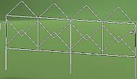 Кованое декоративное ограждение для клумб NetProfit Куб белое