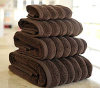 Полотенце махровое Waves microline 70х130 темно-коричневый Irya