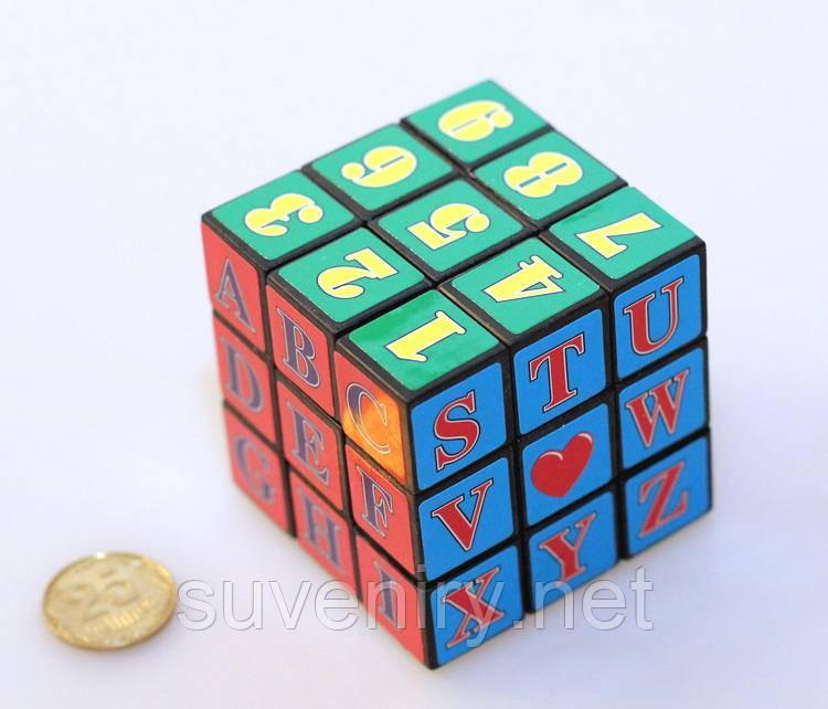 Детская развивающая игрушка Кубик-рубик с буквами и цыфрами