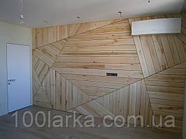 Дерев'яні ЕКО панелі для стін в стилі ЛОФТ декор стін деревом