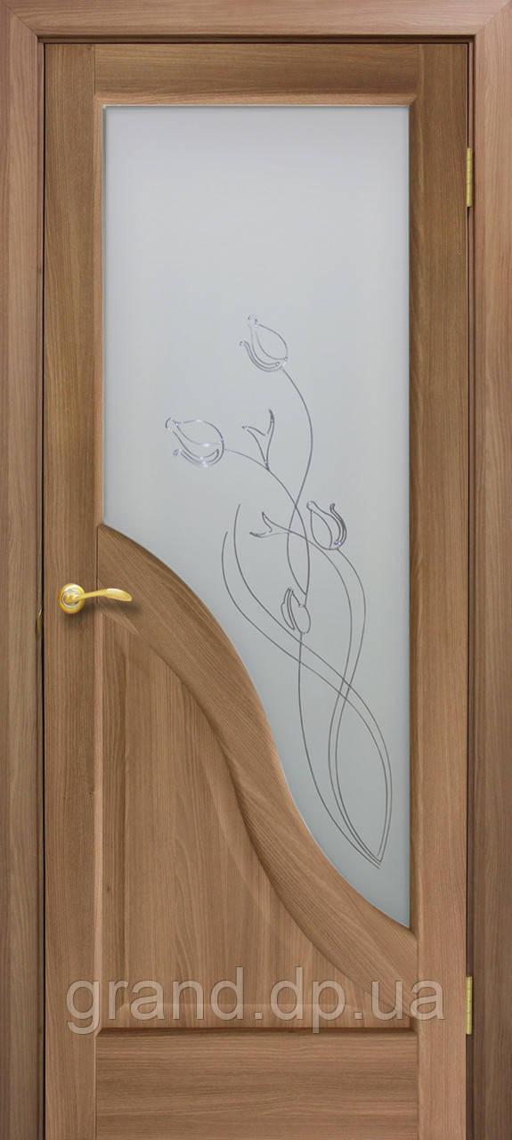 """Дверь межкомнатная """"Габриэлла ПВХ СС+КР"""" с рисунком, цвет дуб золотой"""