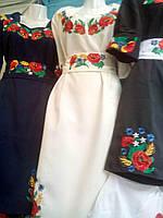 Красивое женское вышитое платье Маки , фото 1