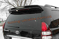 Спойлер на заднее стекло черный из ABS пластика на Toyota Prado 120 2002-2009