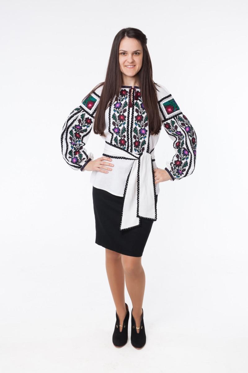 Жіноча вишиванка Борщівська з мереживом  продажа d35229164cacb