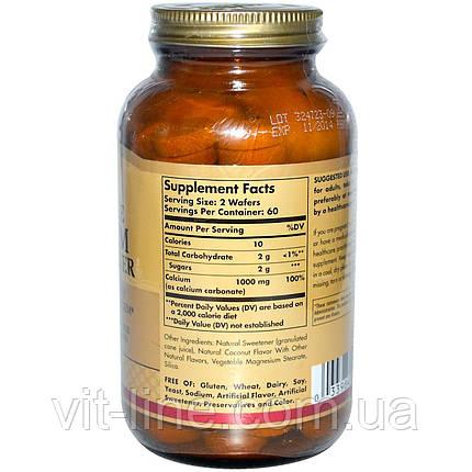 Solgar, Жевательный кальций, 500 мг, 120 вафель, фото 2