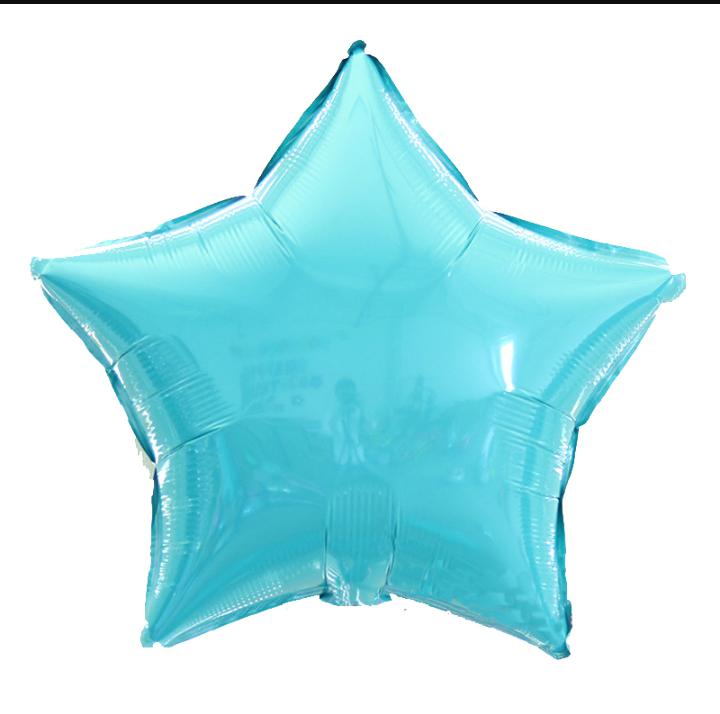 Фольгований куля зірка блакитна Тіффані