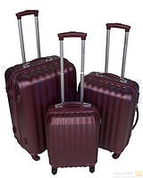 Комплект чемоданов LARSEN L1 bordo