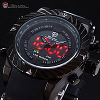 Наручные кварцевые часы SHARK SH166 с цифровым светодиодным дисплеем Оригинал