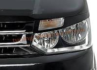 Реснички на фары передние из ABS пластика на Volkswagen T5 2010-2015