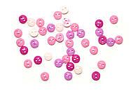 Пуговицы (пластиковые круглые розовые 6мм)