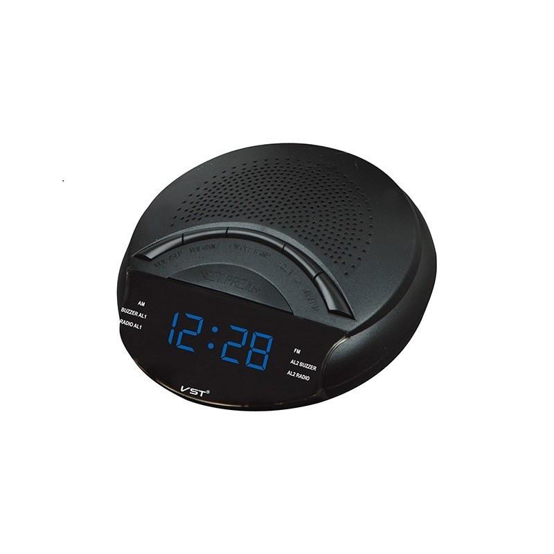 Часы сетевые 903-5 синие, радио FM