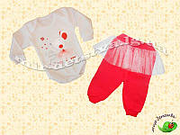"""Комплект для новорожденных """"Мышонок"""" (боди+штанишки) интерлок р.68 см."""