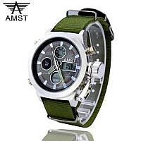 Ударопрочные кварцевые армейские часы AMST Оригинал Хаки