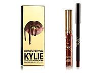 Набор Жидкая Матовая Помада и Карандаш Kylie Birthday Edition Блеск для Губ