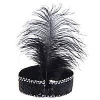 Повязка для волос карнавальная черная