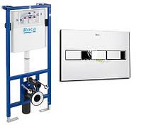 Комплект: Roca PRO инсталяция для унитаза, PRO кнопка