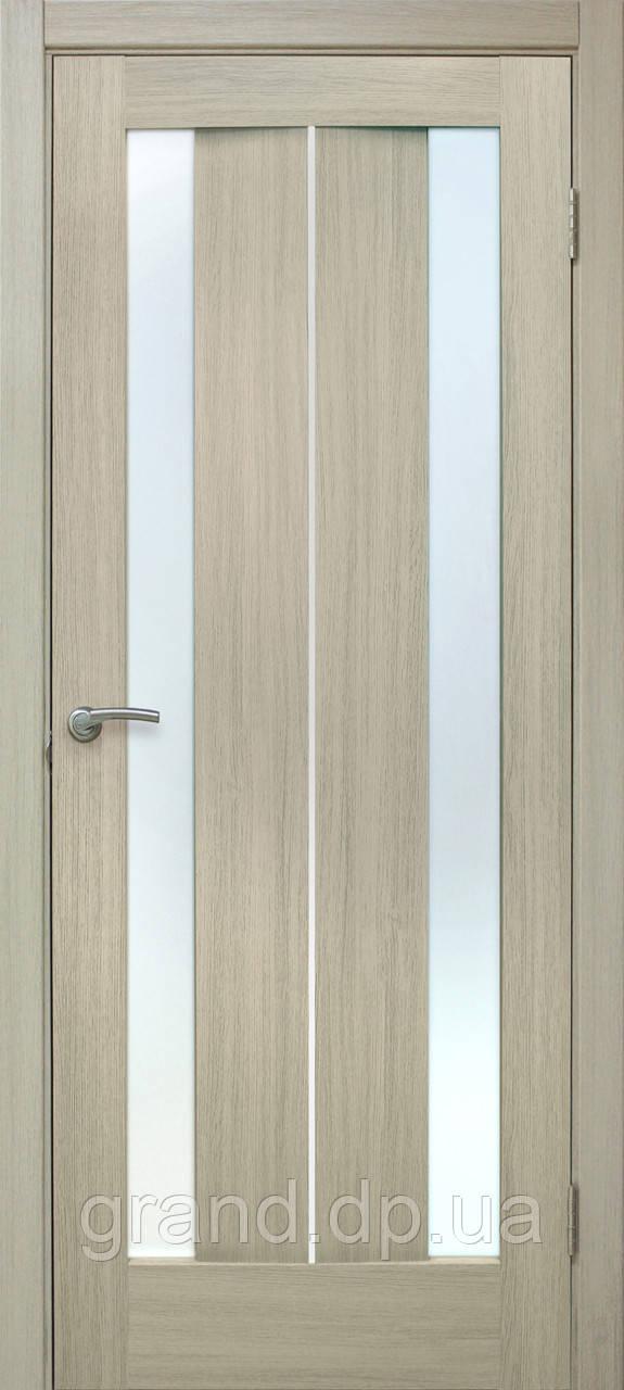 """Дверь межкомнатная """"Стелла ПВХ"""" с матовым стеклом, цвет дуб беленый"""