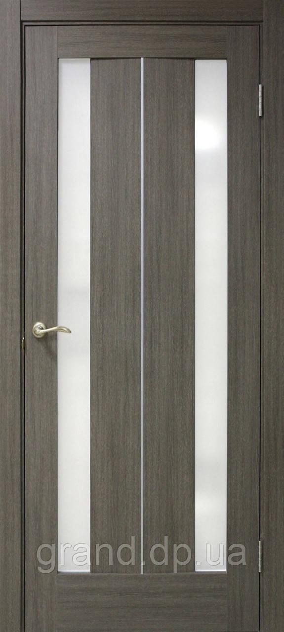 """Дверь межкомнатная """"Стелла ПВХ"""" с матовым стеклом, цвет мокко"""