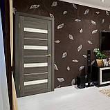 Двери Омис  Милано ПВХ с матовым стеклом, цвет мокко, фото 2