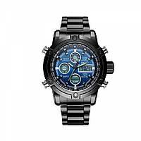 Часы мужские наручные AMST Steelheart+фирменная коробка в подарок black-blue