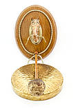 Настенный гонг, голова лошади, дерево, бронза, медь, Англия, фото 2