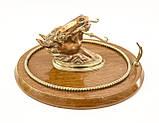 Настенный гонг, голова лошади, дерево, бронза, медь, Англия, фото 5