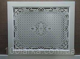 Экран (Фасад) решетка на нишу батареи отопления MDF R8-F60 750 мм. с креплением для монтажа.