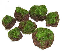 Камни искусственные мшистые 5-6 см, 7 шт.