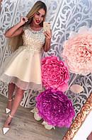 Женское модное платье с бусинками (2 цвета)