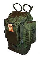 Туристический армейский супер-крепкий рюкзак 65 литров Олива с ортопедической спинкой. Туризм, охота, армия.