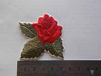 Термо-аппликация Роза с листиком 10 шт.(уп.)