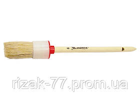Кисть круглая № 6 (30 мм), натуральная щетина, деревянная ручка MTX