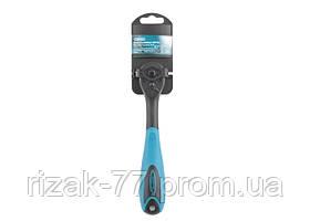 Ключ-трещотка 3/8, 72 зуба, Comfort, с быстрым сбросом, CrV, 2-х комп. рукоятка GROSS