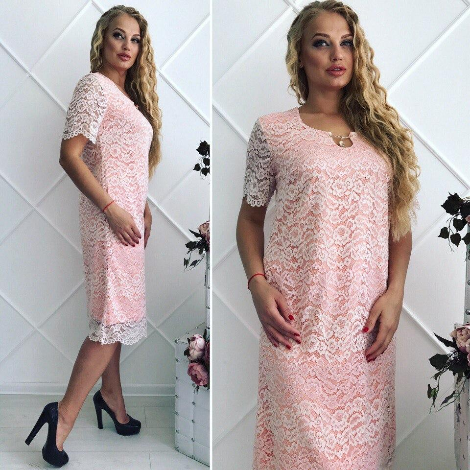 a9a680609ab23fe Нарядное женское летнее платье большого размера. Размер 52,54,56,58 ...