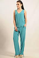Летние женские голубые брюки ШАНТИ ТМ Ри Мари 42-52 размеры