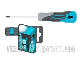 Отвертка PH0 x 75 мм, S2, трехкомпонентная рукоятка GROSS