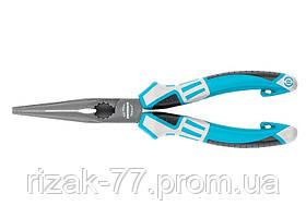 Длинногубцы прямые 205 мм, трехкомпонентные рукоятки GROSS