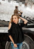 Женская летняя свободная рубашка хлопковая