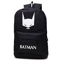 Стильный флуоресцентный черный рюкзак Batman, уценка, фото 1