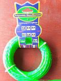 Леска d2.7, зеленая / красная, крученая (для триммера), фото 3