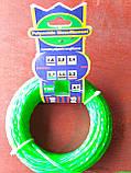 Леска d2.7, зеленая / красная, крученая (для триммера), фото 5