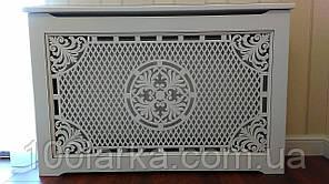 Экран (Короб) на батарею отопления, деревянный (ясень) R34-F90 780х900х20 мм. с креплением для монтажа.
