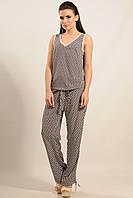 Летние женские  брюки ШАНТИ ТЕМНО-СИНИЙ КРУГИ ТМ Ри Мари 42-52 размеры