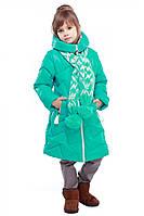 Детское пальто пуховик для девочки Yarina 28–42р. в расцветках
