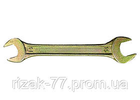 Ключ рожковый, 13 х 17 мм, желтый цинк СИБРТЕХ