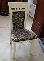 Стул деревянный Эссен беж, с мягким сиденьем и мягкой спинкой,разные варианты обивок