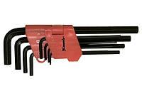 Набор ключей имбусовых HEX, 1, 5–10 мм, CrV, 9 шт., удлиненные MTX