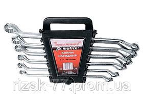Набор ключей накидных, 6–17 мм, CR-V, 6 шт., полированный хром MTX