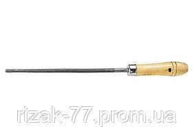 Напильник, 250 мм, круглый, деревянная ручка СИБРТЕХ
