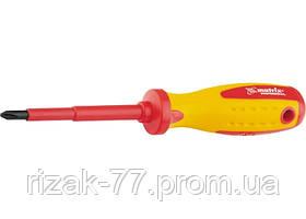 Отвертка Insulated, Ph0 x 75 мм, CrMo, до 1000 В, двухкомп. рукоятка MTX PROFESSIONAL